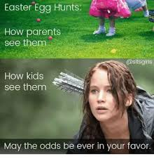 easter egg hunts how parents see theme girls how kids see them may