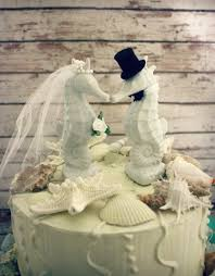 wedding cake toppers theme seahorse wedding cake topper seahorse themed
