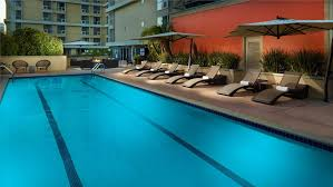 outdoor lap pool pools in los angeles omni los angeles hotel