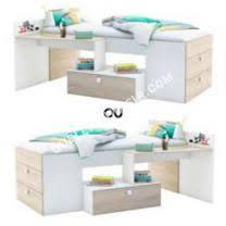 lit combin avec bureau lit lit combiné avec bureau coloris chêne shaon et bla totally au