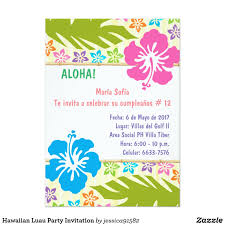 luau party invitation invitación hawaiana del fiesta de luau hawaii
