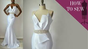style wedding dresses how to sew a satin open back mermaid style wedding dress