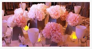tissue paper wedding adorable paper flower wedding centerpieces