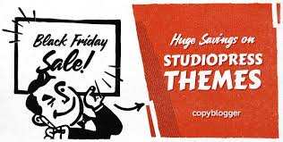 black friday sale savings on studiopress premium