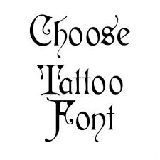 medieval writing tattoo fonts