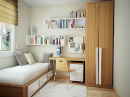 Interior Design Small Space Bedroom With Minimalist Furniture And - Home interior shelves