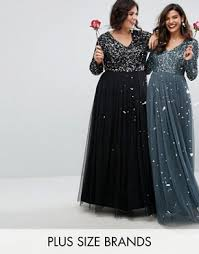 robe habillã e pour mariage grande taille robes de soirée et robes à sequins grande taille asos curve