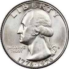 1776 to 1976 quarter 1776 1976 d 25c ms washington quarters ngc