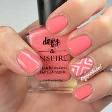 nail tutorial criss cross design coral and white youtube