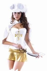 Corsets Halloween Costumes Womens Wrap Corset Musketeer Halloween Costume White