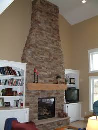brick firplace with built ins pardon no picture above the