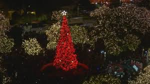 tree lights up travis park after months of controversy woai