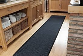 Floor Runner Rugs Amazon Com Navy Blue Dirt Catching Rubber Backed Floor Runner