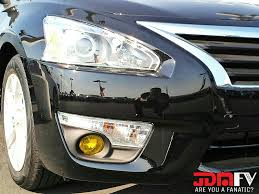nissan altima headlights 2013 nissan altima sedan precut yellow fog light overlays tint