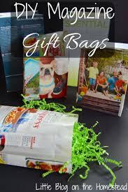 diy magazine gift bags
