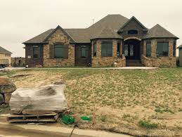 landscaping and lawn care before and after daniels lawn and new home landscaping before wichita