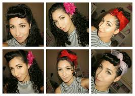 braided pinup hairstyles curly rockabilly hairstyles