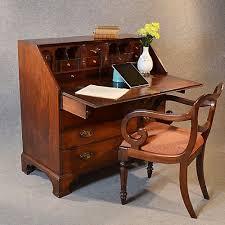 antique georgian writing bureau large english mahogany desk chest