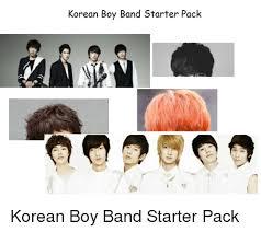Boy Band Meme - korean boy band starter pack starter packs meme on sizzle
