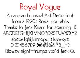 royal vogue a gorgeous art deco typewriter typeface global