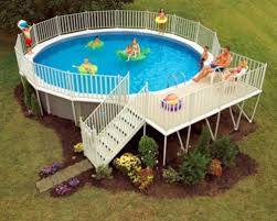above the ground pool deck ideas