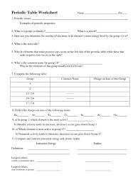 trends in the periodic table graphing worksheet answers