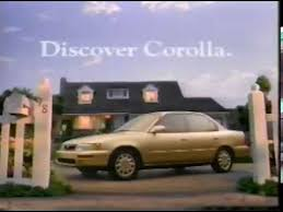 toyota corolla commercial toyota corolla commercial 1992