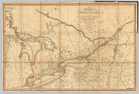 Map Of Quebec Province Map Of The Province Of Upper Canada Smyth David William 1818