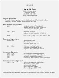 teach for america sample resume resume for college application template