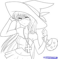 anime halloween coloring pages u2013 halloween wizard