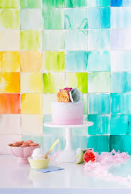 diy photo backdrop diy watercolor paper squares backdrop