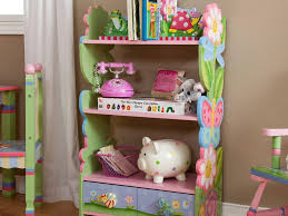 interior ideas bookshelf for kids room with unique action figure