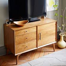 mid century console cabinet media cabinets storage west elm
