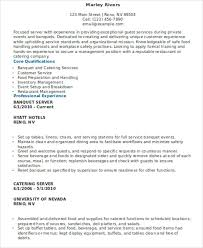 Banquet Server Resume Sample by 10 Server Resumes Free Sample Example Format Download Free
