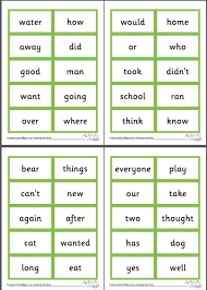 words cards 200 common word cards 1