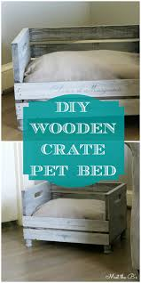 how to make a diy pet bed wooden crates pet beds and crates