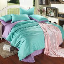 Duvet Cover Double Bed Size Aliexpress Com Buy Luxury Purple Turquoise Bedding Set King Size