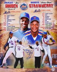 The Doc And Darryl Mets - online sports memorabilia auction pristine auction