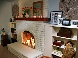 decorative fireplace decorating with candles fireplace opening