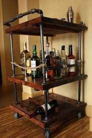 best ideas about rustic bar carts pinterest farmhouse rustic bar cart industrial pipe wood unique bars whiskey wine kitchen island rollaway furniture