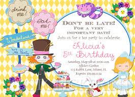 birthday invites cartoons alice in wonderland birthday