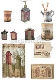 Outhouse Shower Curtain Hooks Outhouse Bathroom Decor By Linda Spivey We Have This Bathroom