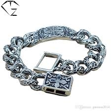 sterling silver bracelet men images 2018 gz 925 sterling silver bracelet men jewelry width 15mm jpg
