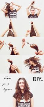 different ways to cut the ends of your hair how to cut your own layers diy haircut hair girls and haircuts