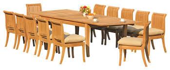 Teak Dining Room Furniture by 13 Piece Teak Dining Set 122