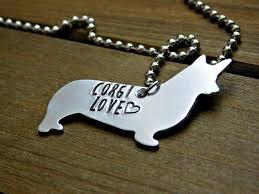 pet memorial jewelry corgi necklace dog pet memorial jewelry custom sted gift animal lov