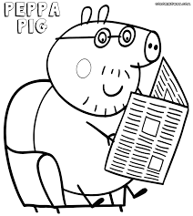 coloring pages peppa the pig peppa pig daddy pig coloring pages many interesting cliparts
