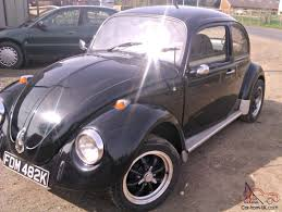 black volkswagen bug vw beetle black 12mths mot tax exempt lots of money spent vgc