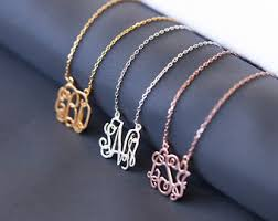monogram jewelry cheap monogram necklace etsy