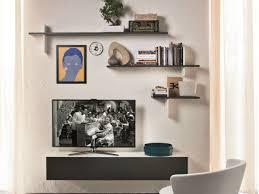 Wood Wall Mounted Shelving Living Room Modern Wall Mounted Shelves Ideas Modern Wall
